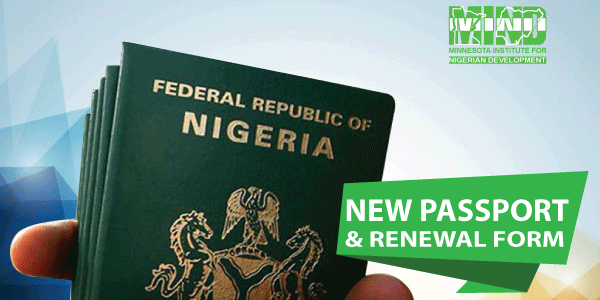 Passport Issuance Renewal Form For Nigerians In Minnesota